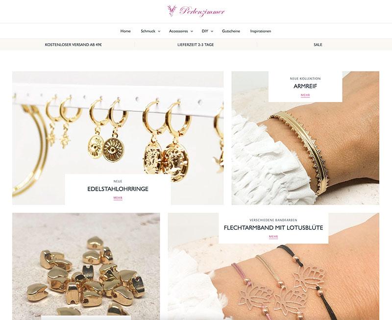Online Shop Perlenzimmer - Schmuck, Ohrringe, Armbänder, Accessoires